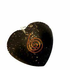 Shungite Crystal Orgonite Pendant Copper Spiral Orgone Handmade Necklace Reiki