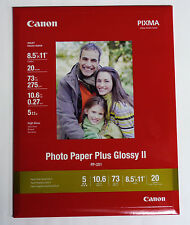 Canon FS 8.5x11 20 glossy photo paper Plus II PP201 for ink inkjet printer