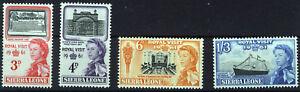 SIERRA LEONE 1961 ROYAL VISIT SG236/239  MNH