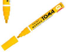 Yellow Permanent Oil Based Paint Pen Car Bike Tyre Metal Marker waterproof