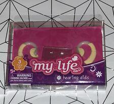 "2 hearing aid aids & earring sticker sheet my life as fits 18"" Boy & Girl doll"