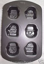 Wilton Snowman and Mitten 6-Cavity Nonstick Mini Cake Pan - EUC!!