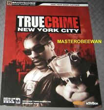 True Crime New York City Official Strategy Guide Book Brand New PS2 XBOX GC
