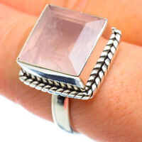 Rose Quartz 925 Sterling Silver Ring Size 8.75 Ana Co Jewelry R46303F