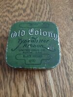 Antique Rare Oliver Old Colony Typewriter Ribbon Tin