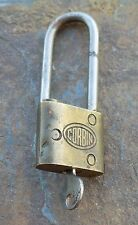 Antique/ Vintage  Brass & Steel Corbin Padlock & Original Key