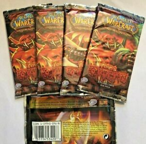 WOW - 5 loose packs of English Fires of Outland