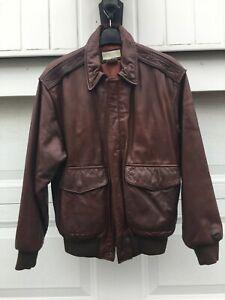 Banana Republic Mens Vintage Brown Leather Jacket - Size 36