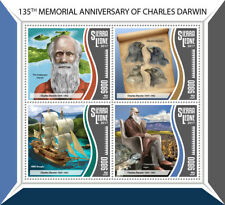 Sierra Leone Charles Darwin Stamps 2017 MNH Science Birds Ships People 4v M/S