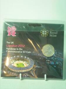 Royal Mint 2012 London Olympics BU £2 POUND COIN SEALED PACK Handover to Rio