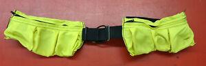 6 Pocket 13.6kg Scuba Tauchen Gewicht Gürtel Ausrüstung Gelb Gebraucht