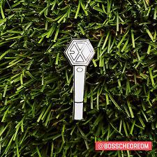 EXO Glow-in-the-Dark Lightstick Enamel Pin KPOP Badge Flair Fanmade Fanart Lapel