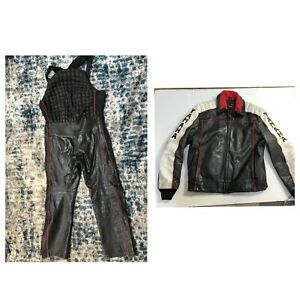 maxim wear yamaha leather snow suit mens Xl T vintage rare Snowmobile Riding
