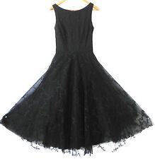 ABS Evening by Allen Schwartz Black Dress Lace Sleeveless Petticoat Size 6