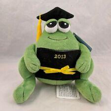 "Precious Moments 8"" Plush Green Frog Graduation Graduate Cap, Diploma 2013"