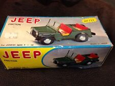 """Mf-722 Willys Jeep Wwii Us Army Vehicle Tin Friction 4-1/2"""" Mib 1970s"""
