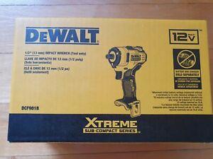 "Dewalt DCF901B Brushless 1/2"" Impact Wrench Cordless 12V XTREME (Tool Only)- NIB"