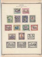 liberia stamps on album page ref r11840