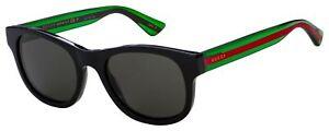 Gucci Sunglasses GG0003S 006 Black, MultiColor | Grey Polarized Lens