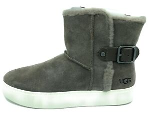 UGG Womens Aika Fashion Sneaker Boots Mole Brown Nubuck Size 10 M US