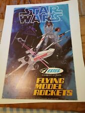 Vintage Star wars ESTES MODEL ROCKETS 1977 Store display sign poster Rare X-wing