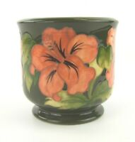 Moorcroft Hibiscus Pattern Planter - 1990  -  Made in England.