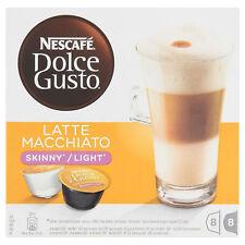 Dolce Gusto Latte Machiato café Skinny (3 Cajas, Total 48 Cápsulas)