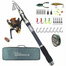 Telescoping Fishing Rods and Reels Combo - Travel Fishing Poles with Spinning.