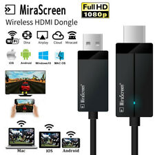 Smart Wireless WiFi Display Dongle Receptor TV Stick Cable Miracast Airplay DLNA