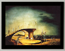 Salvador Dali Destroyed bridge dreams framed canvas print 8X12 art reproduction