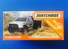 NEW 2019 Matchbox Power Grabs GREY 2016 DODGE RAM FLATBED PICKUP TRUCK mint box!