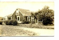 Cute Rural Home-Shake Siding-Driveway-RPPC-Real Photo Postcard