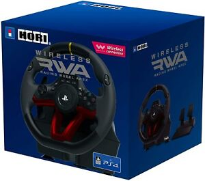 Playstation 4 WIRELESS Racing Wheel HORI RWA APEX Steering Wheel with Pedals PS4