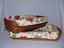Longaberger Small Serving Tray or Bread Liner Only - Heirloom Floral - New