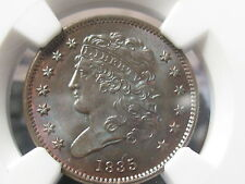 1835 CLASSIC HEAD HALF CENT-NGC MS65 BN-RARE HIGH GRADE-FREE SHIPPING