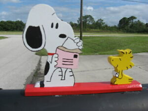 """NEW Snoopy & Woodstock """"We Got Mail"""" Mailbox Topper Handmade"""
