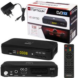 Sat Receiver HD TV FULL Digital OPTICUM AX150 AX 150 HDMI DVB-S2 USB Easy Find