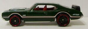 Hot Wheels Oldsmobile 442 Green With Redline Tires   (2003)
