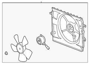 Genuine GM ShroudEng Cool Fan 19130227