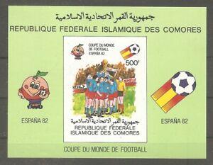 Komoren Block 226 Fußball WM Spanien ungezähnt postfrisch