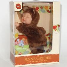 """Anne GEDDES poupées """"BEAN FILLED"""" Collection NEUF en Boîte Bébé Ours Chocolat 9"""""""