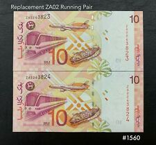 Malaysia - 10th RM10 Replacement ZA02 Running   UNC