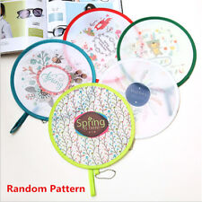 Cute Portable Fans Foldable Small Round Hand Fan Cooling Pocket Color Random