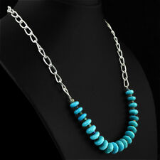 155.80 CTS NATURAL SINGLE STRAND UNIQUE AAA TURQUOISE UNTREATED BEADS NECKLACE