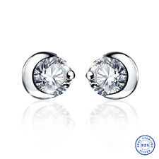 925 Sterling Silver earring CZ Cubic Zirconia clear crystal DLE32
