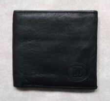 Wallet Vintage Leather BI-FOLD CARDS NOTES ID BLACK 1990s