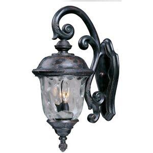 Maxim Carriage House DC 3-Light Outdoor Wall Lantern Bronze - 3497WGOB
