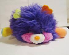 Vintage 1986 Mattel Popples Puffling Plush Stuffed Animal Purple Body
