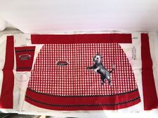 Vintage Aprinette Carin/Toto Terrier Dog Red Checked Apron Sewing Craft Project