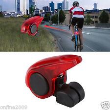 Mini Brake Bike Light Mount Tail Rear Bicycle Light Cycling LED Light Battery